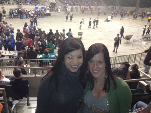 Julie Chin and Jessica Anderson at the Roller Derby