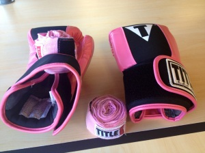 Title Boxing Club gloves and wraps